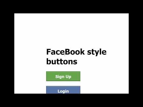 CSS Tutorial  (FaceBook style buttons)