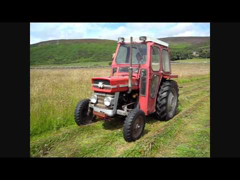 MF 135 & Vicon Disc Mower Cutting Hay 2011