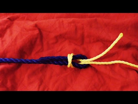 How To Join Slippery Synthetic Rope - Simple Simon Over