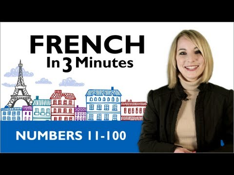 Learn French - French in 3 Minutes - Numbers 11 - 100