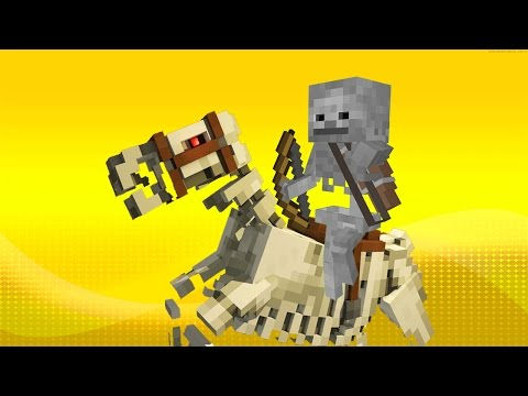 How to Spawn Skeletons riding Skeleton Horses in Minecraft
