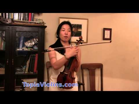 how to play slurred notes on the violin