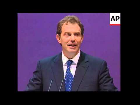UK: BRIGHTON: TONY BLAIR ADDRESSES LABOUR PARTY CONFERENCE