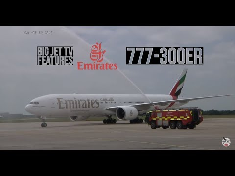Inaugural Emirates 777-300ER Flight to London Stansted LIVE!!