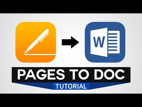 How to Open Apple Page Document in Microsoft Word [Convert .pages to .doc file]