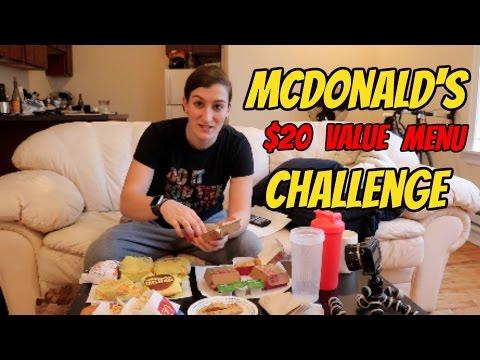 MCDONALD'S $20 VALUE MENU CHALLENGE!!   Girl Vs. Food