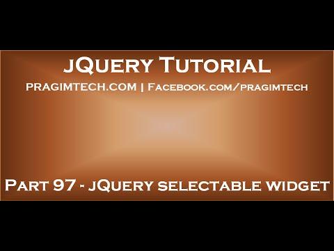 jQuery selectable widget