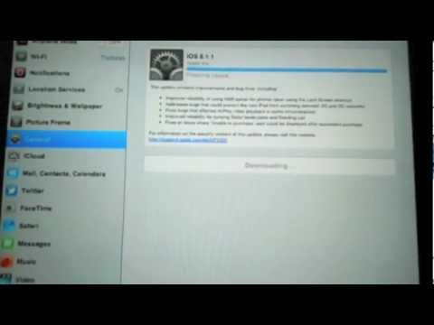 How to update your Apple iPad from iOS 5 over WiFi (over-the-air)