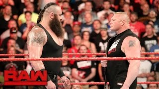 Braun Strowman puts Brock Lesnar on notice: Raw, April 3, 2017