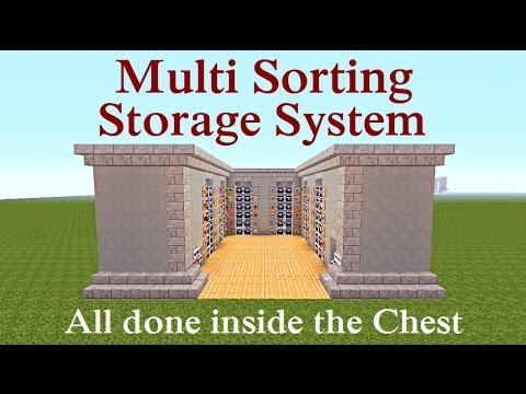 Minecraft Tutorial : Multi Sorting Storage System