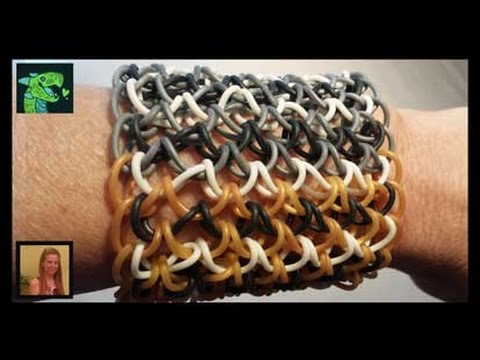 How To Make A Dragon Scale Cuff on a rainbow Loom I Revised ** ORIGINAL DESIGNER **
