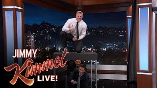 Jj Watt Jumps Over Jimmy Kimmel Guillermo