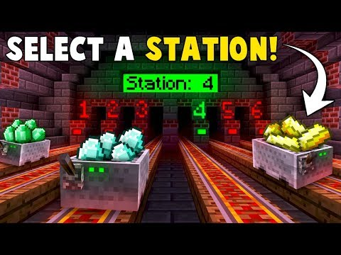 Automatic RAILWAY STATION TRANSPORT System! - Minecraft Tutorial