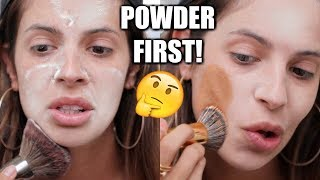 APPLYING POWDER BEFORE FOUNDATION   HIT OR MISS?