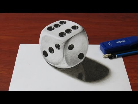 How to Draw a Realistic 3D Dice
