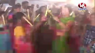 Bathukamma Celebrations At Peddapalli LIVE | V6 News