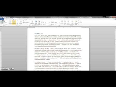 Setting up mirrored margins for Microsoft Word 2010