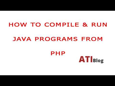 How to compile and run java from PHP