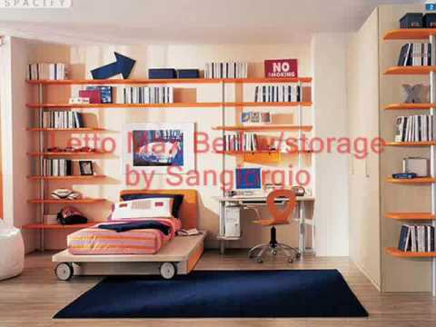 Wood Bunk Bed, Modern Designer Futon Metal Bunk Beds for Kids, youth, children and teenagers.
