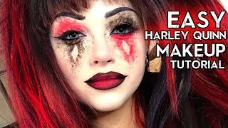 EASY HARLEY QUINN MAKEUP TUTORIAL