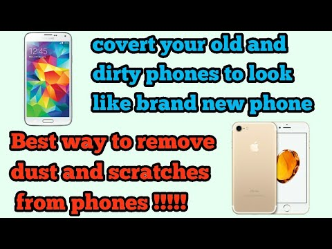How to make old phones look like brand new || how to remove dust from phone || remove hard glue ||