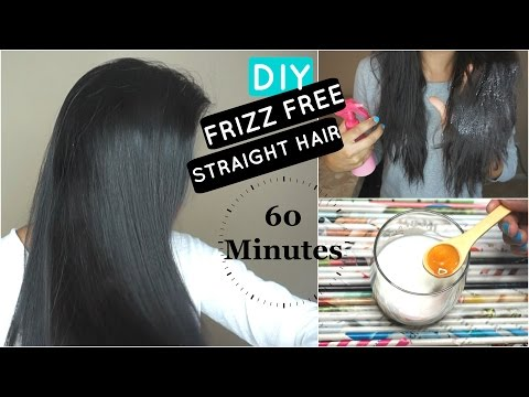 HOW TO: NATURALLY STRAIGHT SILKY HAIR IN 60MIN: DIY EASY HACK