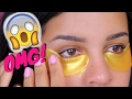 DOES IT WORK??   GOLD Eye Mask  first impression  review
