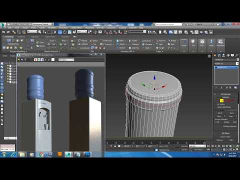 Tutorial on Modeling a water cooler in 3dsmax.