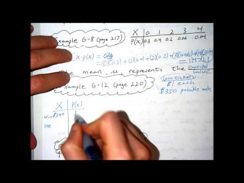Chapter 6 part 2 mean and variance