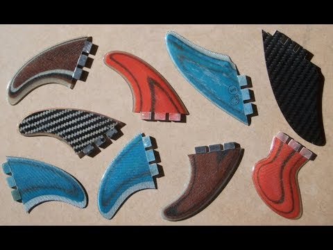 How to make Your own replaceable wood core surfboard fins