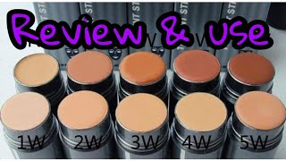 Kryolan Tv Paint Stick Review | How to Apply kryolan tv stick |world most full coverage foundation
