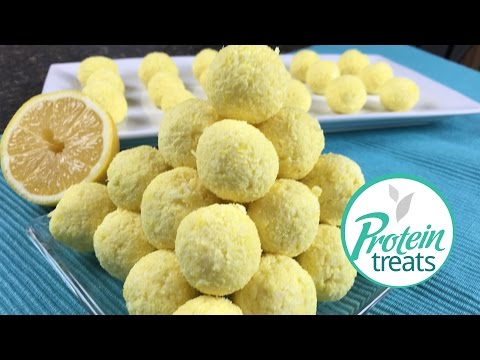No Bake Lemon Cheesecake Balls - Protein Treats by Nutracelle