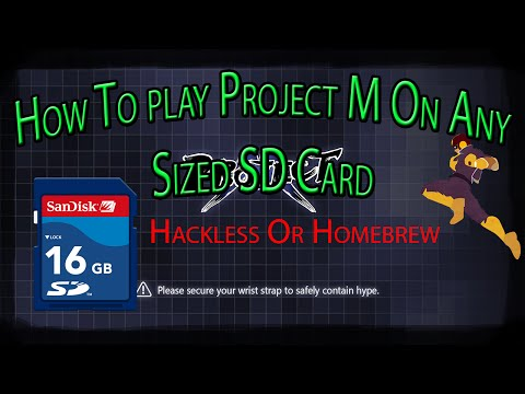 How To Install Project M On Any Sized SD Card Hackless/Homebrew