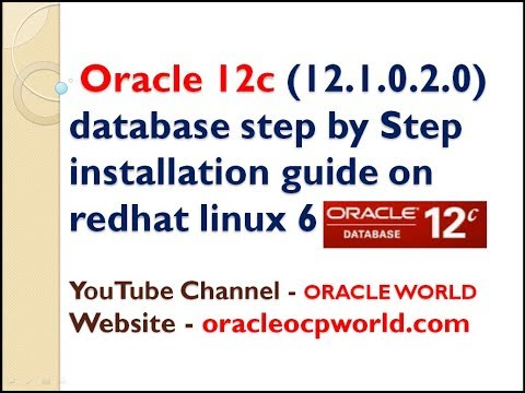 Oracle 12c (12.1.0.2.0) database step by Step installation guide on redhat linux 6