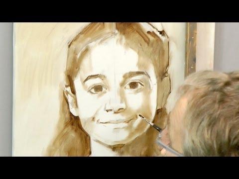 Learn how to start a portrait in oil. Ben Lustenhouwer