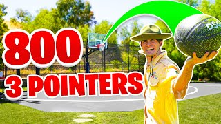 800 CRAZY Basketball 3 POINTERS FOR 800K SUBSCRIBERS