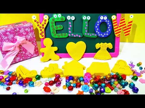 I Love Yellow 5.0 | Learn ABC New Word With Play Doh