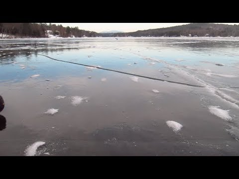 Epic Smooth Ice Lake Winnisquam NH January 2018