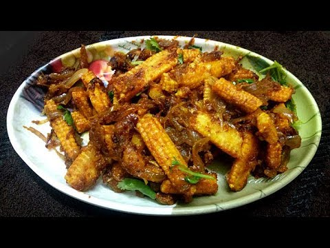 Baby Corn Recipes in Tamil / Baby Corn Masala / Spicy baby Corn Masala dry