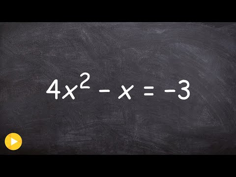 How to find the discriminant of a quadratic and label the solutions