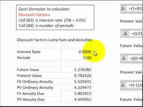 Discounted Cash Flows (Excel Formulas And Cash Flow Diagrams DCF For Each Type)