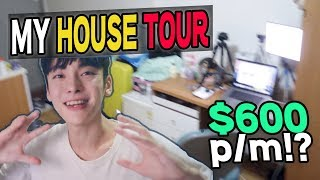 Korea Trip Tip // My house Tour // $600 Monthly Studio in Seoul! // 우리집 투어