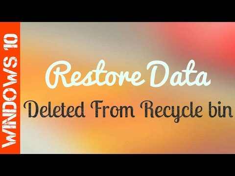 How to Recover Files After Emptying the Recycle Bin | Windows 10, 8, 7