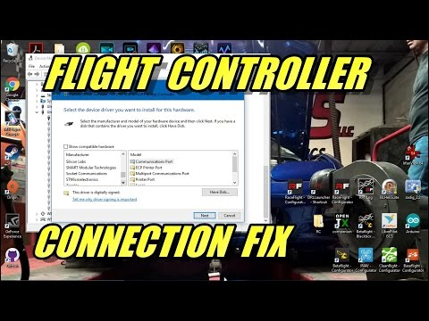 Making Flight Controller Connect Through USB