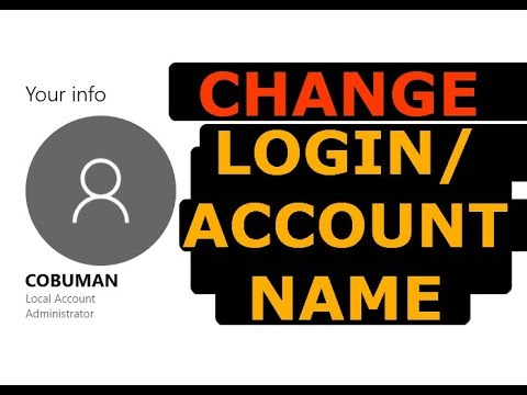 How to change your account name in Windows 10
