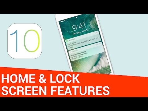 19 New Home & Lock Screen Features in iOS 10