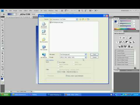 Putting A Background Into Your Adobe DreamWeaver CS4 Website