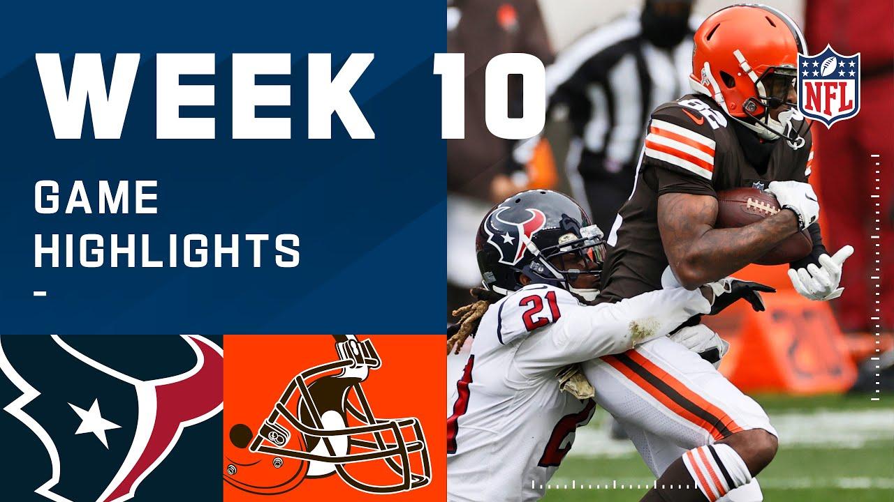 Texans vs. Browns Week 10 Highlights | NFL 2020