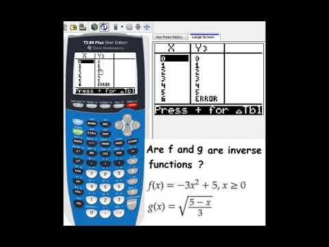 Check whether two functions are inverse by TI 84 Plus