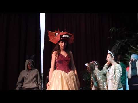 Victoria Smith as Dragon from Shrek The Musical